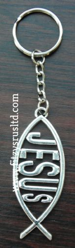 Jesus Fish Key Ring Holy Religious Sacred Christian Gift Keyring
